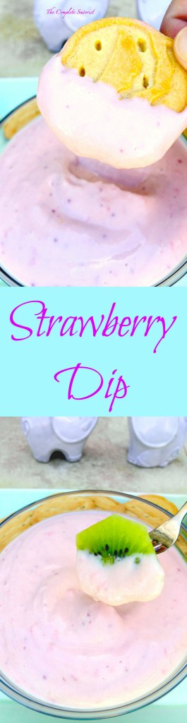 Strawberry Dip from Greek Yogurt ~ Creamy fruit dip from strawberry coulis and made lighter by using Greek yogurt ~ The Complete Savorist