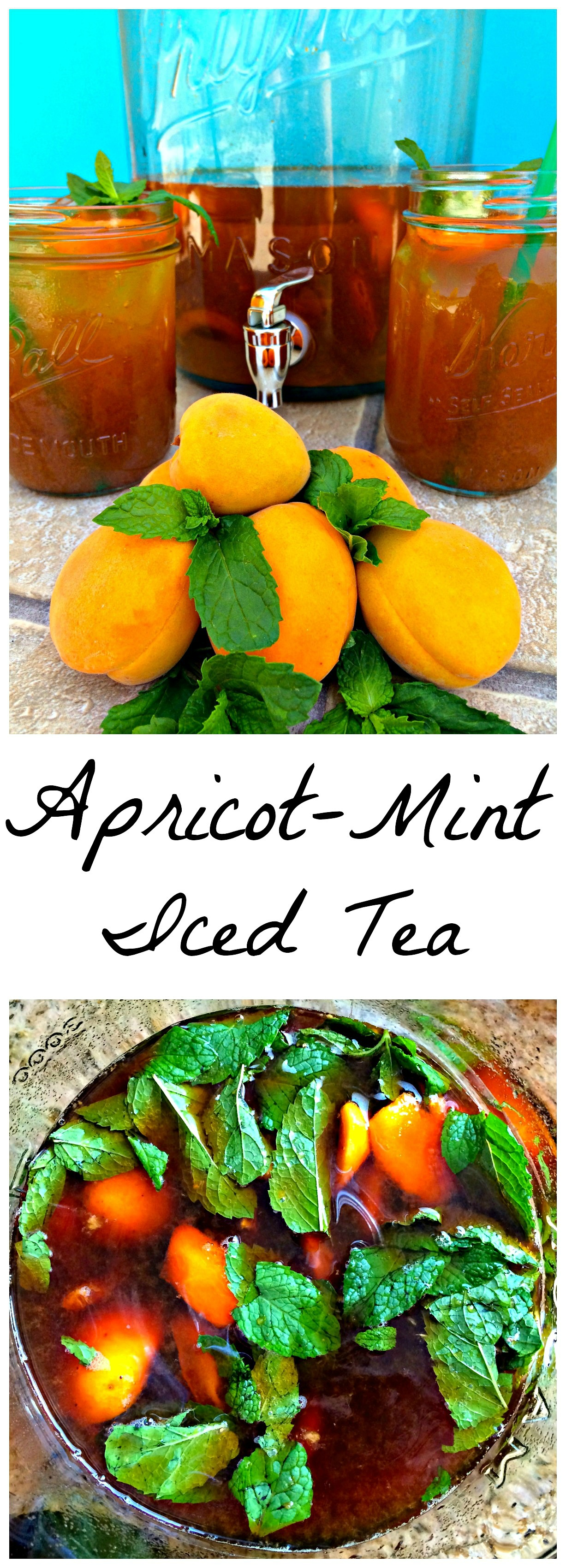 how to make mint iced tea