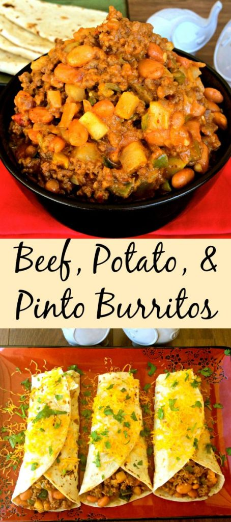 Beef, Potato, & Pinto Burritos  ~ Hearty and satisfying, these burritos can be made quickly and will feed a crowd with a hidden veggie  ~ The Complete Savorist