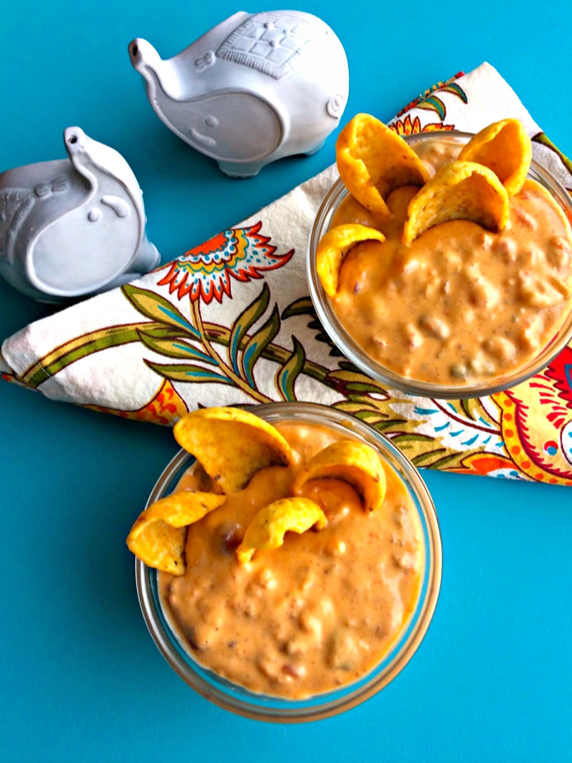 Quick Queso Dip ~ A quick and easy, crowd pleasing option that's naturally gluten free with no processed cheese can easily be made on-hand pantry staples ~ The Complete Savorist by Michelle De La Cerda