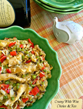 Creamy White Wine Chicken and Rice ~ The Complete Savorist