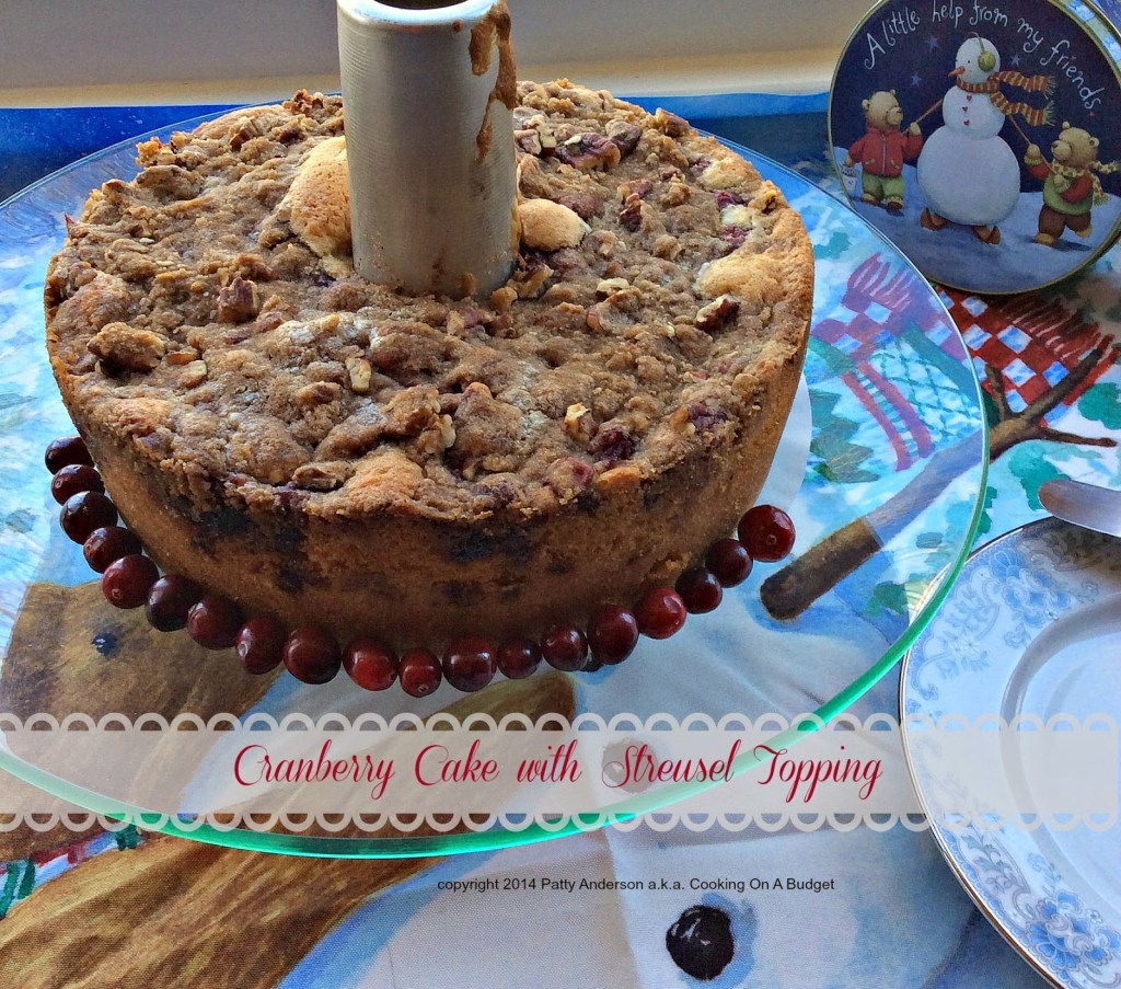 Cranberry Cake with Streusel Topping by Cooking on a Budget