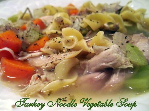 Turkey Noodle Vegetable Soup By Moore or Less Cooking