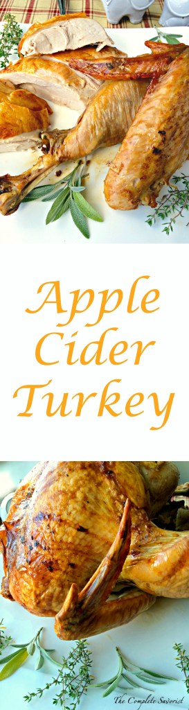 Apple Cider Turkey ~ Turkey roasted and steamed from the inside with freshly pressed apple cider and herbs using the Turkey Cannon makes a moist, fragrant, and delicious bird ~ The Complete Savorist #campchef