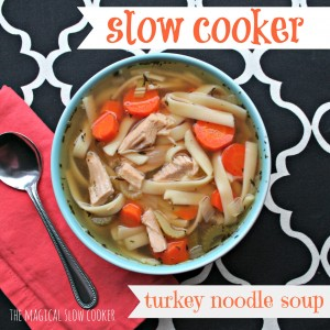 Grandma's Slow Cooker Turkey Noodle Soup by The Magical Slow Cooker