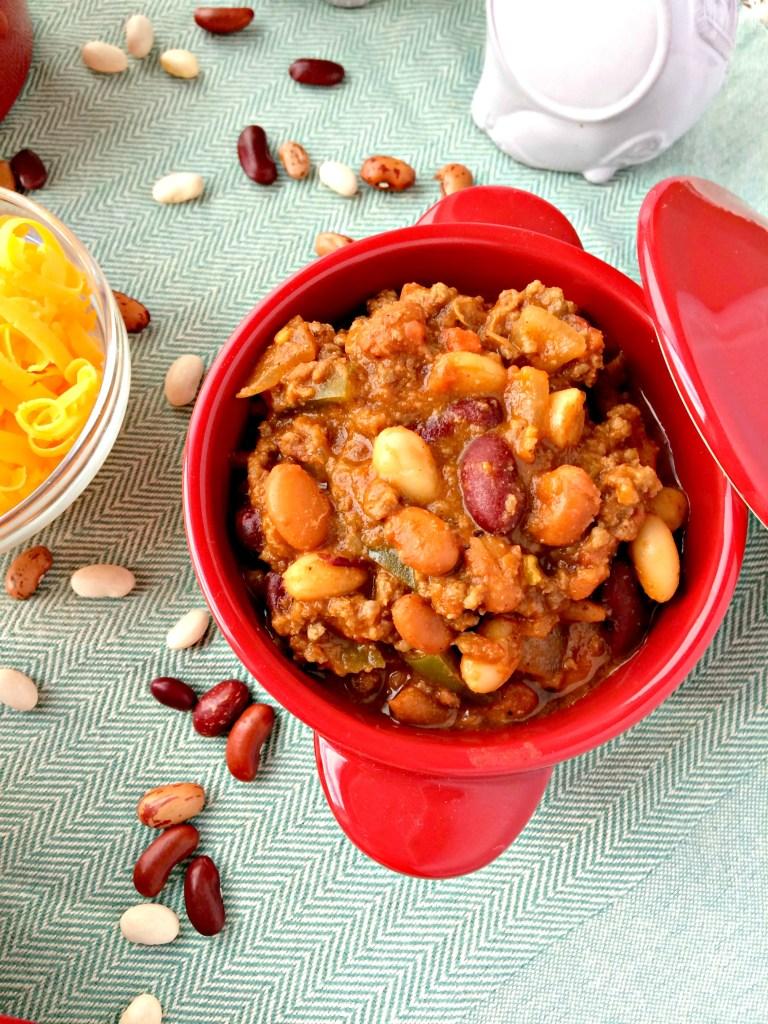 3-Bean Chili con Carne ~ The Complete Savorist