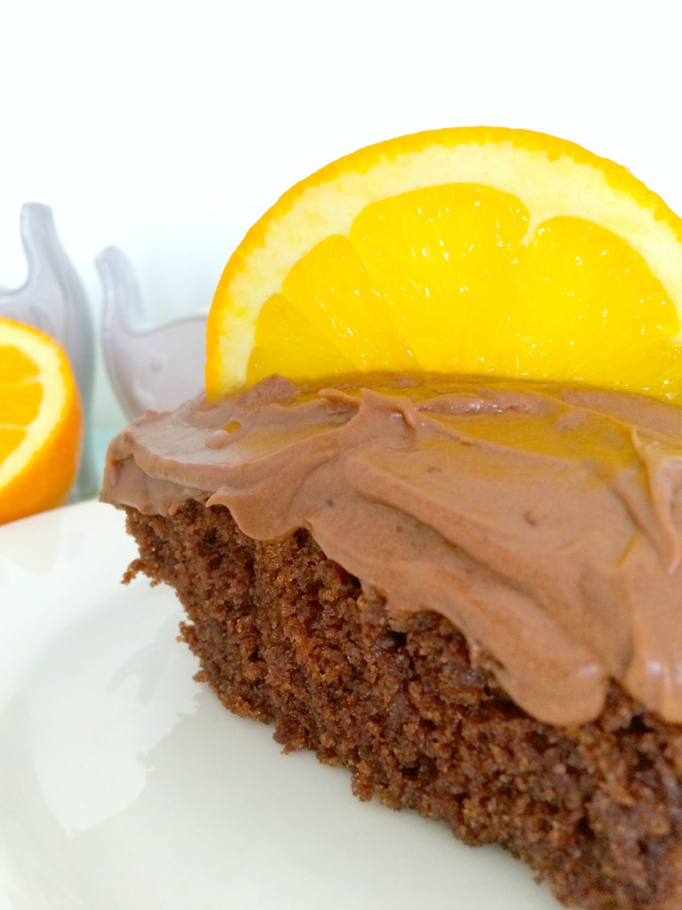 Chocolate-Orange Brownie Cake ~ The Complete Savorist