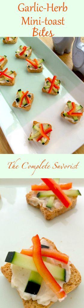 Garlic-Herb Mini-Toast Bites ~ The Complete Savorist #sponsored #KickStartToANewYou