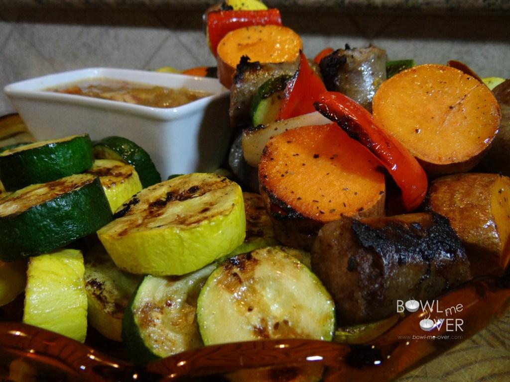 Brats and Veggie Platter