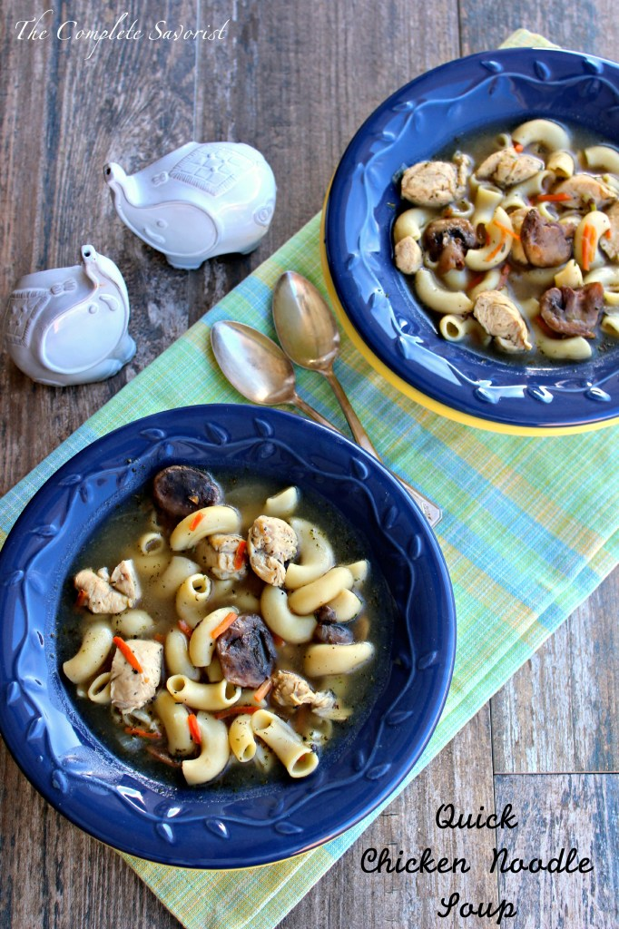Quick Chicken Noodle Soup ~ The Complete Savorist