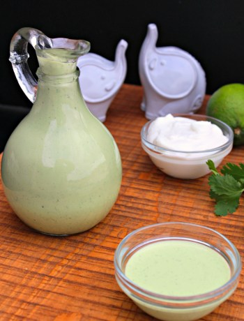 Creamy Cilantro Dressing - A bright and creamy cilantro dressing bolden by poblano peppers, warm spices, and tangy lime ~ The Complete Savorist