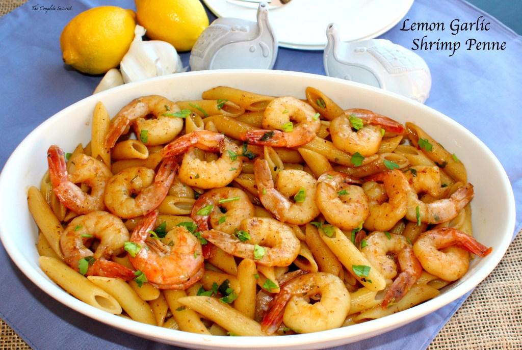 Lemon Garlic Shrimp Penne