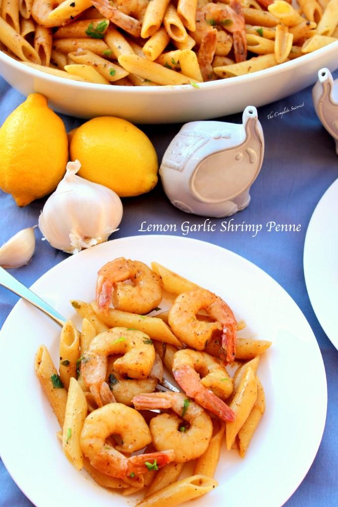 Lemon Garlic Shrimp Penne ~ The Complete Savorist