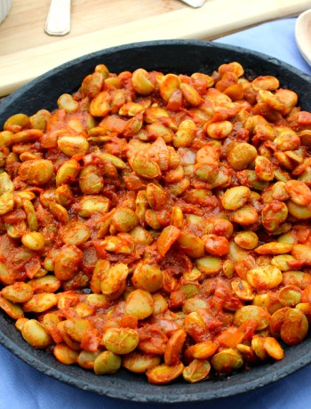 Smoky Spicy Lima Beans