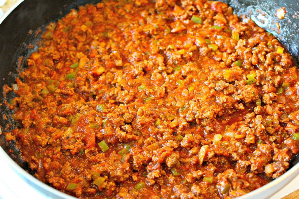 Meat filling for Italian Sloppy Joes ~ The Complete Savorist