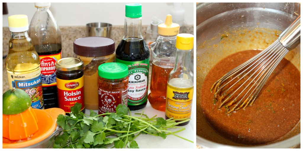 Sauce ingredients for Hoisin Pork Noodle Bowl ~ The Complete Savorist