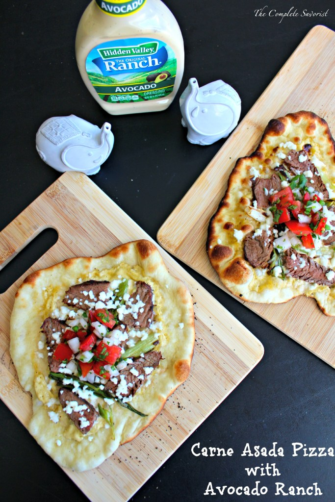 Carne Asada Pizza with Avocado Ranch ~ The Complete Savorist #WhatsYourRanch #Ad