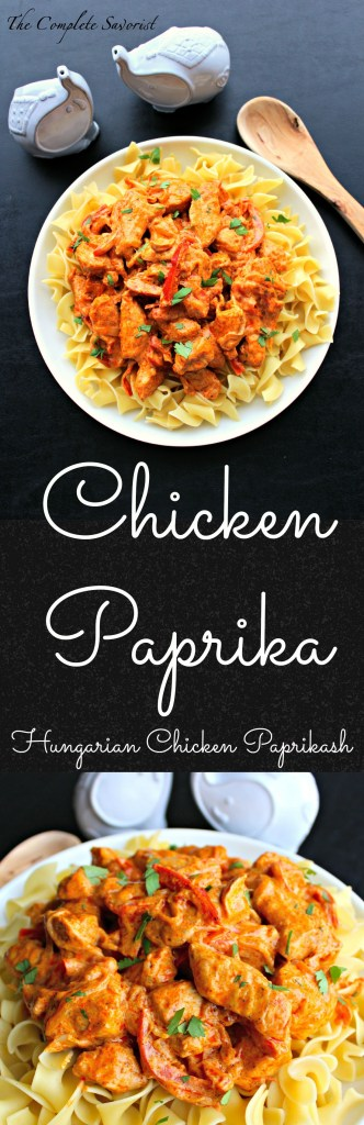 Chicken Paprika - Hungarian Chicken Paprikash is chicken, onions, peppers in a sour cream sauce with a healthy dose of paprika ~ The Complete Savorist