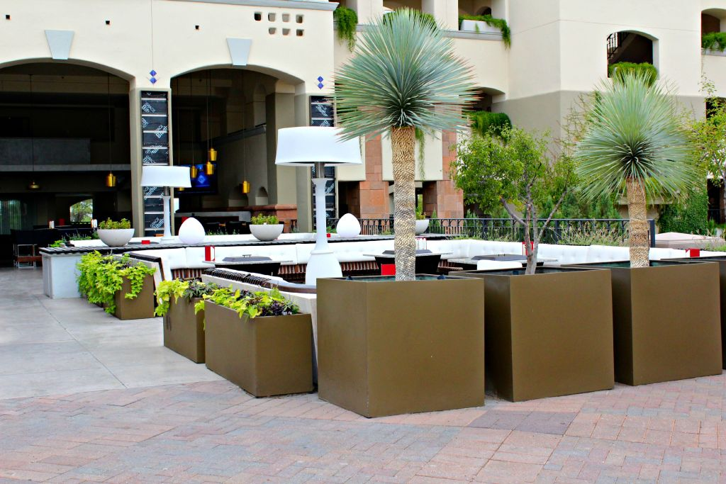 Outdoor sitting area at the Fairmont Scottsdale Princess ~ The Complete Savorist