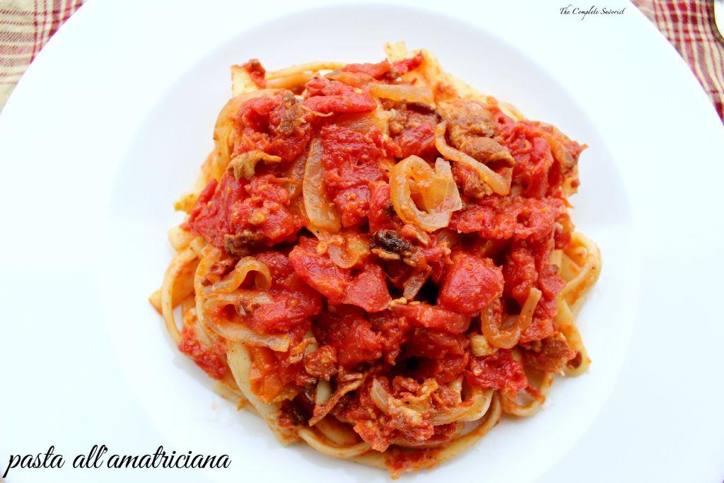 Pasta all'Amatriciana ~ The Complete Savorist
