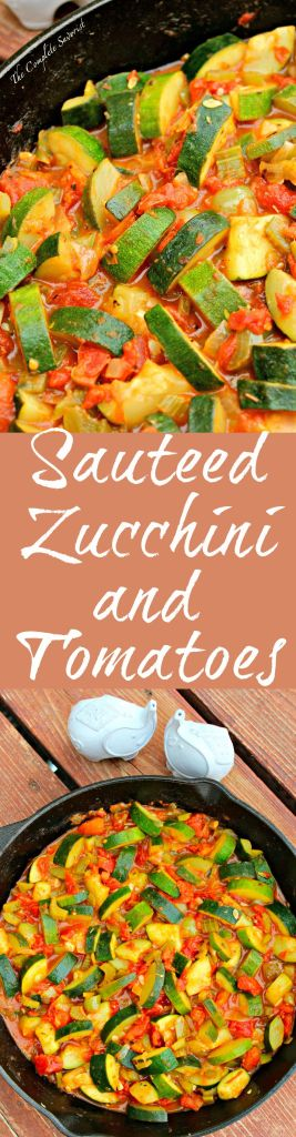 Sautéed Zucchini and Tomatoes  ~ Zucchini, tomatoes, onions, bells, celery and  herbs make one delicious side dish ~ The Complete Savorist