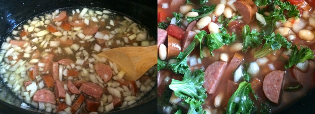 Italian Style Smoked Sausage and White Bean Soup ~ A hearty mixture of white beans, kale, and Italian style smoked sausage in a broth enhanced by rosemary and garlic ~ The Complete Savorist