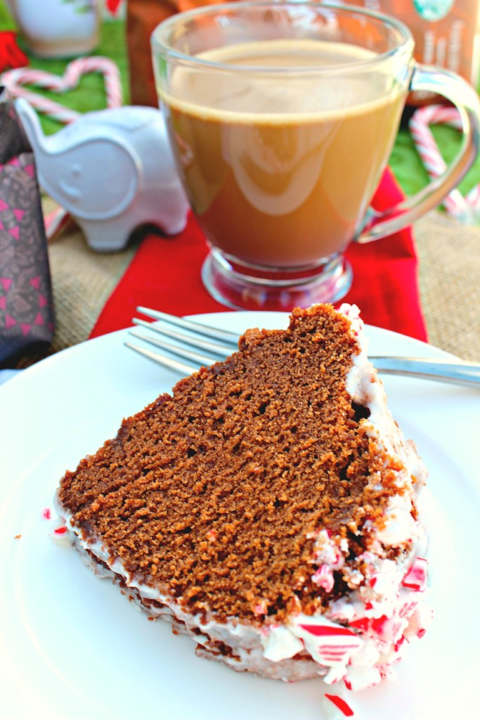 Peppermint Mocha Coffee and Cake ~ Quick version of the classic peppermint mocha and a bundt cake to compliment any holiday meal with its rich chocolate flavor, subtle coffee notes, and peppermint ~ The Complete Savorist #MakeItMerrier #ad #holidays