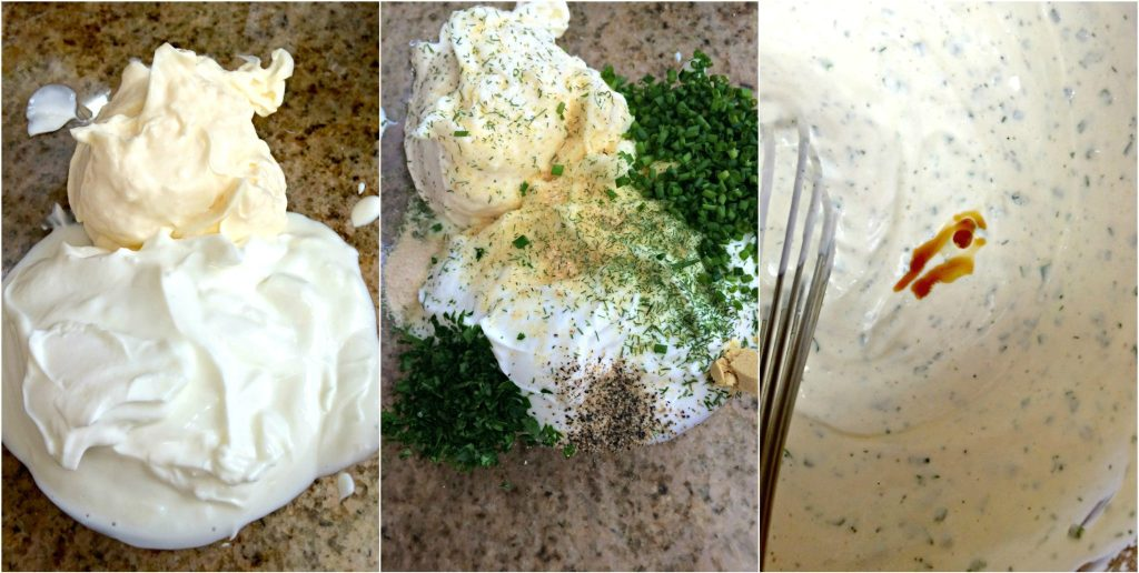 Homemade Ranch Dressing and Dip ~ A lightened up version of ranch dressing with both Greek yogurt and mayonnaise and fresh herbs ~ The Complete Savorist