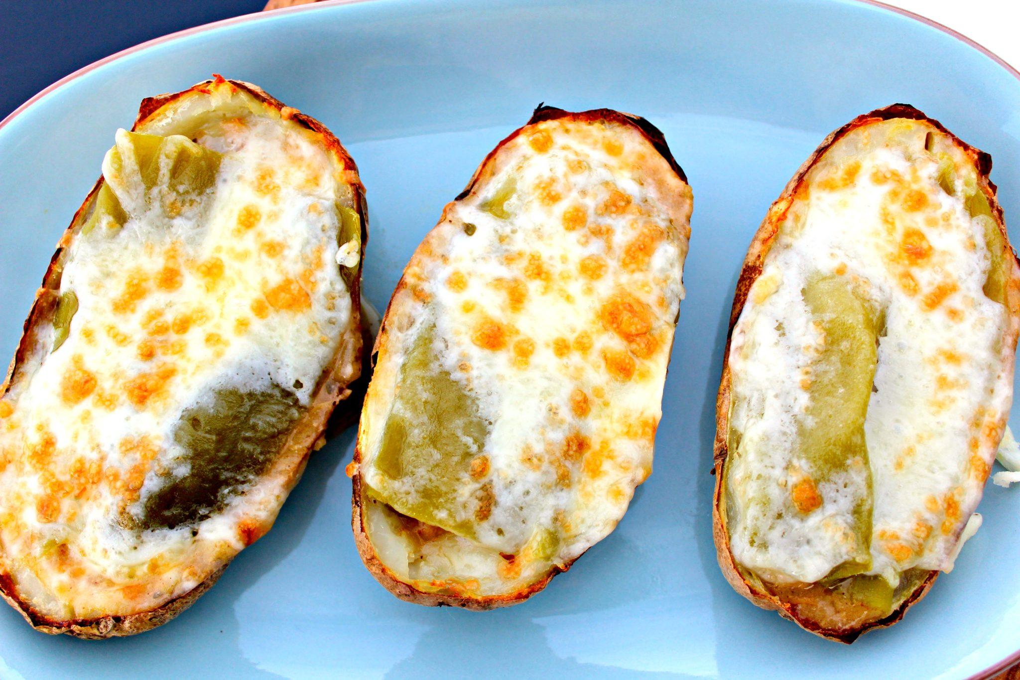 Potato Boats with White Chicken Chili