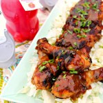 A sweet pomegranate honey marinade is transformed into sweet, sticky, and savory glaze/gravy for chicken pan-fried in a skillet and finished in the oven. ~ The Complete Savorist by Michelle De La Cerda