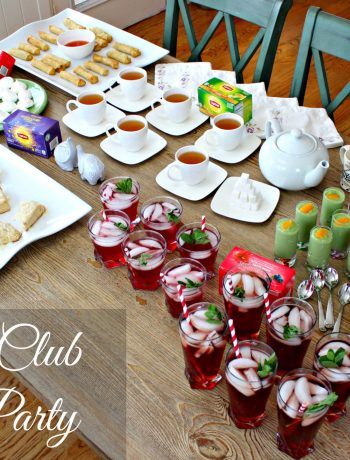 Book Club Tea Party ~ Fun times are bound to ensue at your next book club when you turn it into a tea party. Tea enhanced scones, anglaise, meringues, and a cocktail ~ The Complete Savorist
