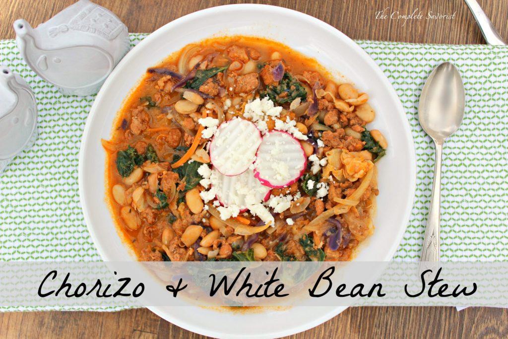Chorizo and white bean stew the complete savorist chorizo and white bean stew a simple stew of fresh mexican chorizo white beans sciox Gallery