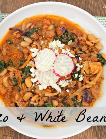 Chorizo and White Bean Stew ~ A simple stew of fresh Mexican chorizo, white beans, greens, and onions prove again how simple ingredients create the greatest flavor ~ The Complete Savorist