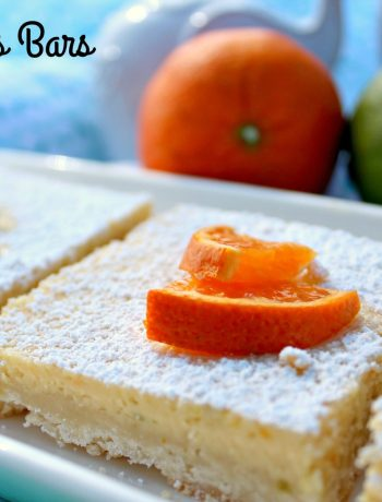 Triple Citrus Bars ~ Fresh lime, lemon, and clementine juice and zest mixed into cream cheese and baked on a shortbread crust ~ The Complete Savorist