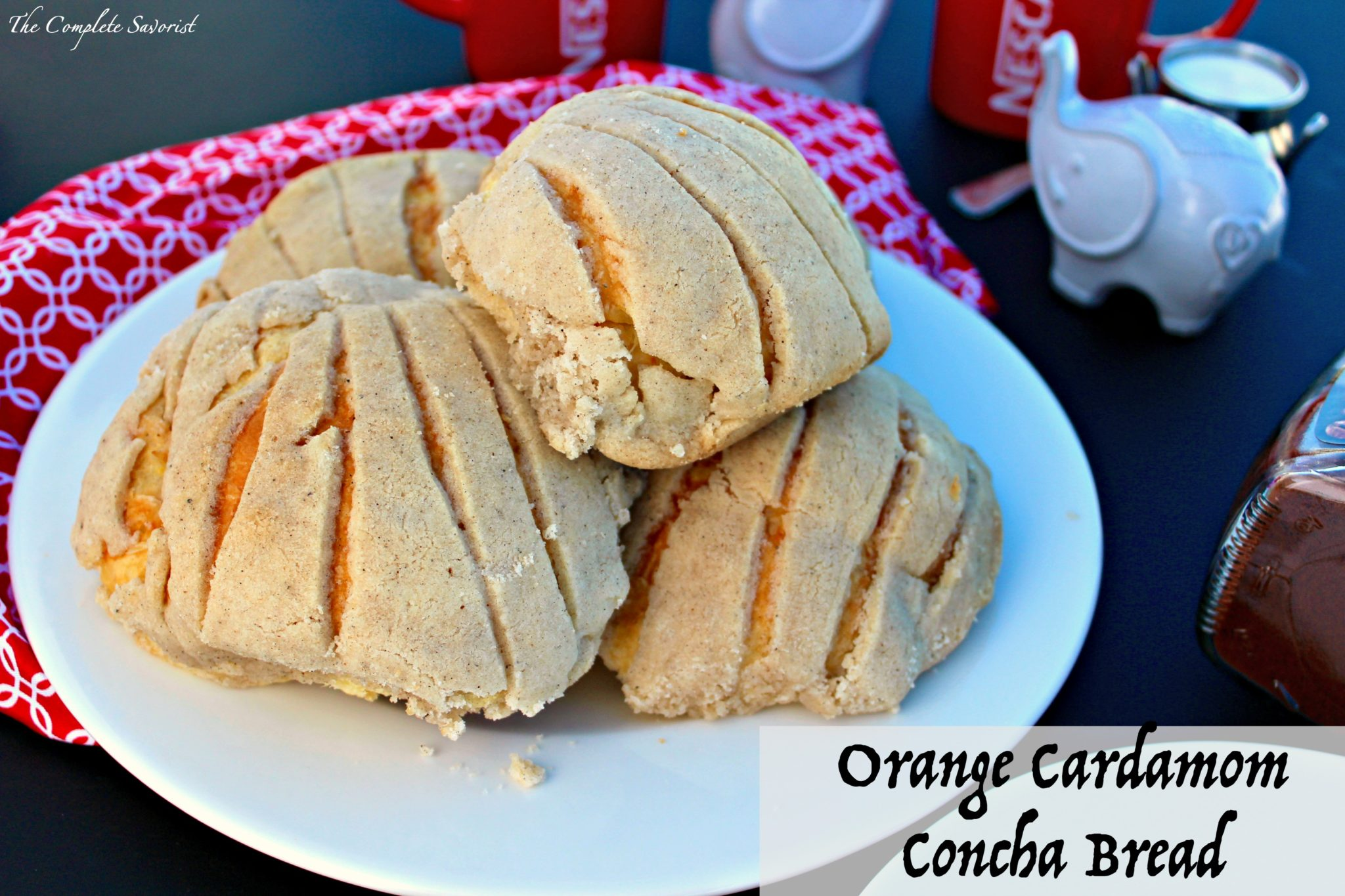 Orange Cardamom Concha Bread (Pan Dulce) ~ Traditional Mexican concha bread  flavored with tangy 759ad907cf03f