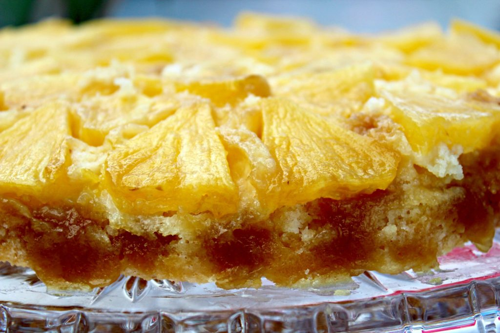 Pineapple Upside Down Cake ~ Classic sweet cake with tangy fresh pineapple that transports your taste buds to a tropical island ~ The Complete Savorist