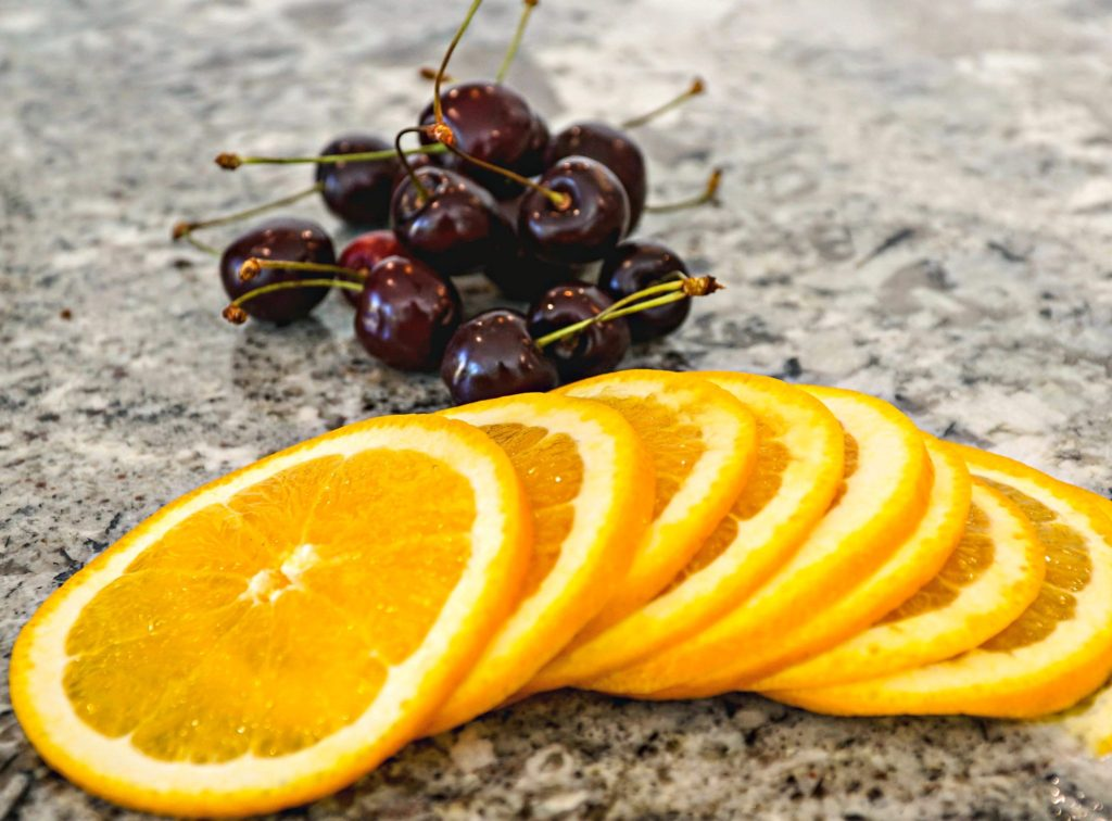 Cherry Orange Sangria ~ Refreshing on a hot day, red wine infused with fresh cherries and orange creating the perfect cocktail for any meal or time of the day ~ The Complete Savorist