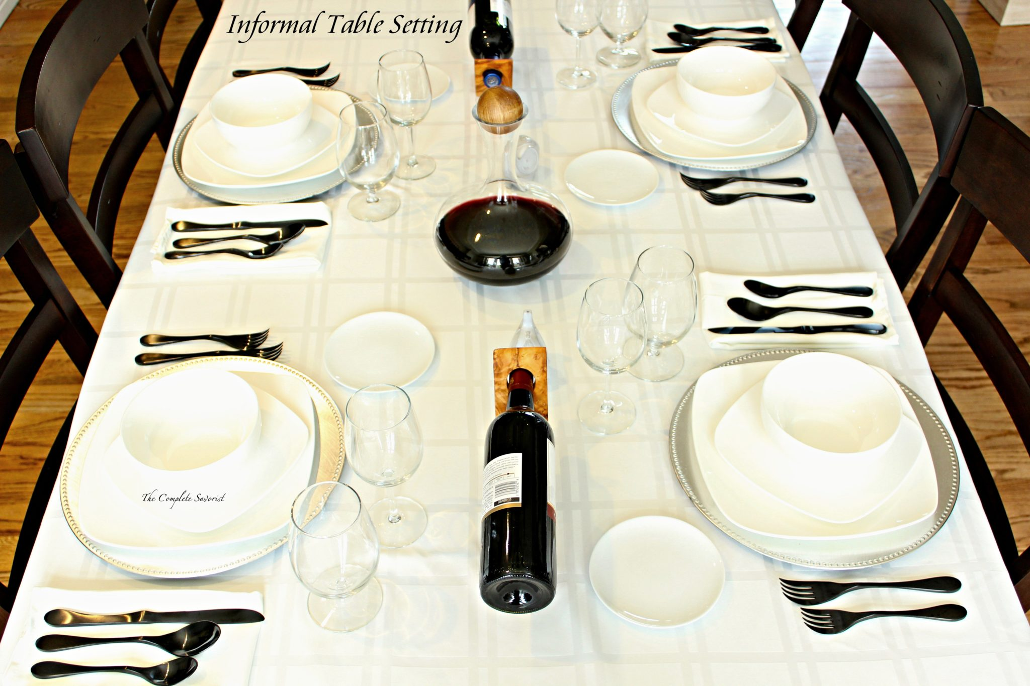 How to Set an Informal Table ~ The table setting may be called informal but it doesnu0027t lack for elegance in its simplicity. & How to Set an Informal Table - The Complete Savorist