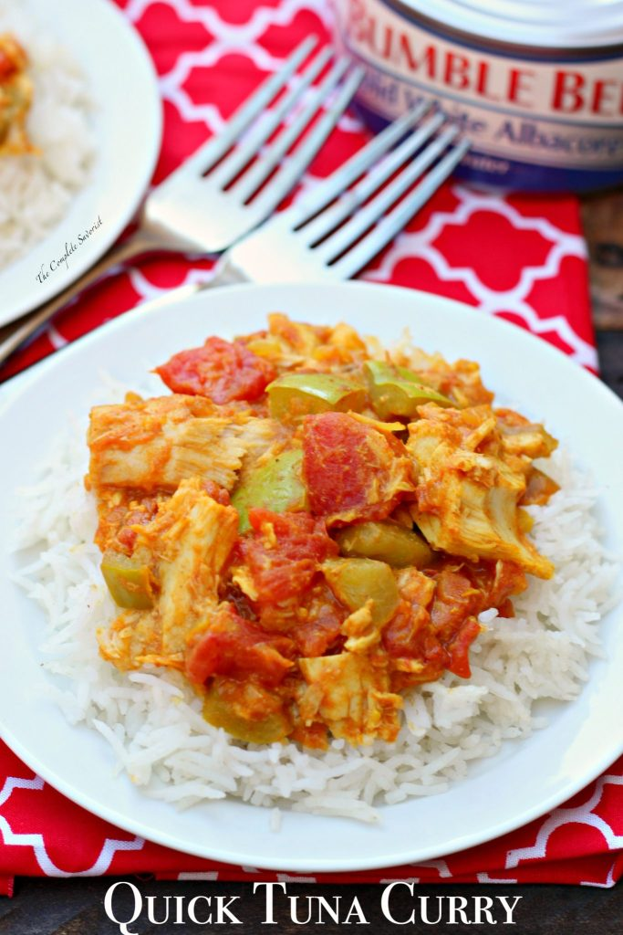 Quick Tuna Curry ~ Traditional Indian curry of aromatic spices, onions, peppers, and tomatoes, with solid white albacore, making this no boring tuna dish ~ The Complete Savorist #OnlyAlbacore #CG ad
