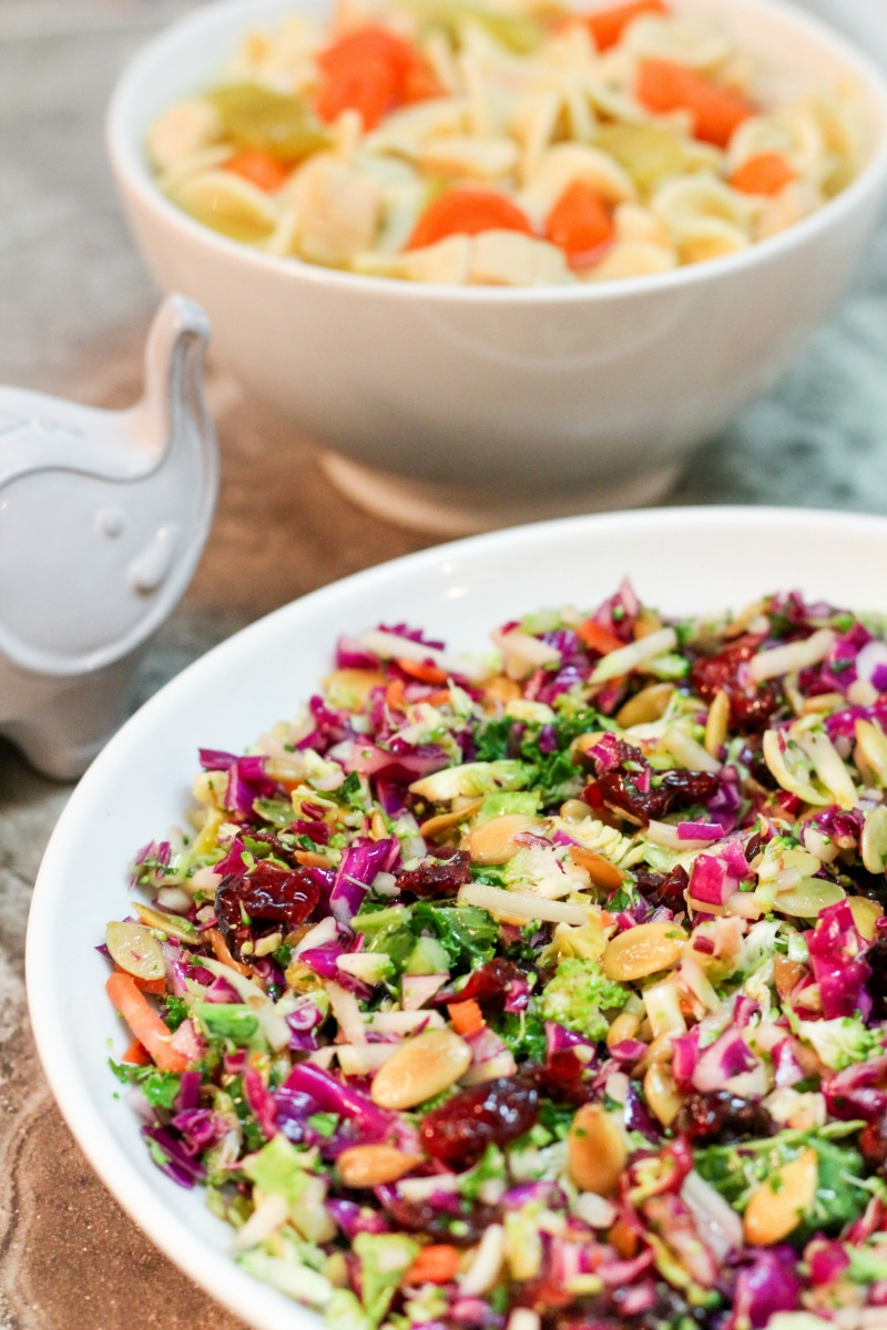 Crunchy Salad with Cilantro Orange Vinaigrette ~ Chopped veggie salad with serious crunch factor in a tangy yet slightly sweet cilantro orange vinaigrette ~ The Complete Savorist #qualityingredients ad
