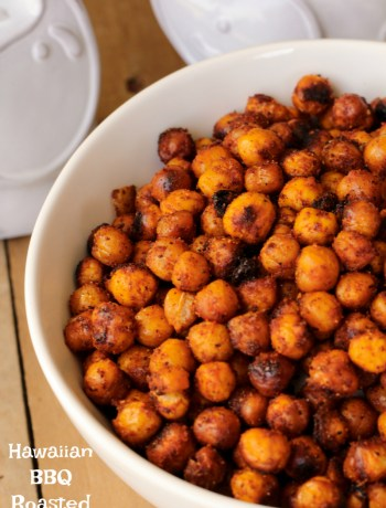 Hawaiian BBQ Roasted Chickpeas ~ Chickpeas soaked in pineapple juice, rolled in Hawaiian BBQ Spices and roasted; the perfect sweet-spiced, no guilt snack ~ The Complete Savorist by Michelle De La Cerda