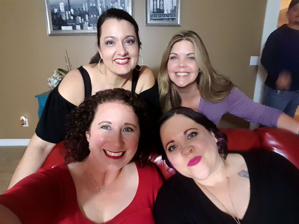 Image of Michelle De La Cerda of The Complete Savorist and her 3 friends.