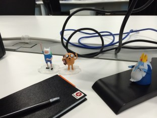 Finn, Jake, and the Ice King keep me company at work.