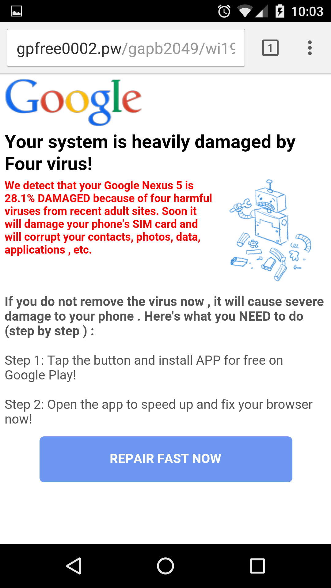 virus warning on iphone warning on imgur pages android phones only 8327