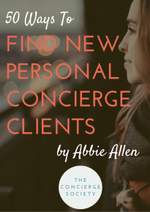 50 Ways To Find New Personal Concierge Clients
