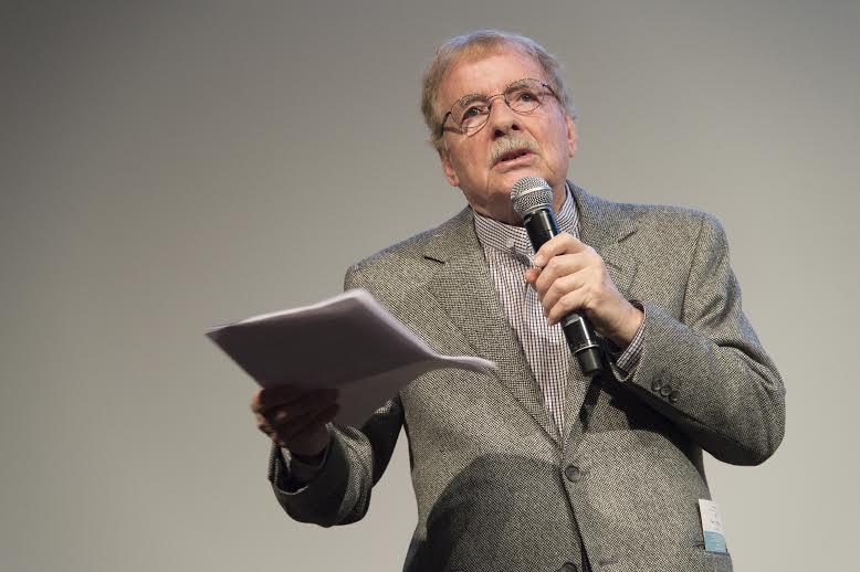 Claude Fournier spoke of film preservation at the press conference for Éléphant Classiq.