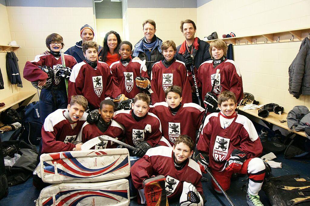 Royal Vale elementary school's hockey team is the brainchild of gym teacher Norman Katz. Photo by Norman Katz.