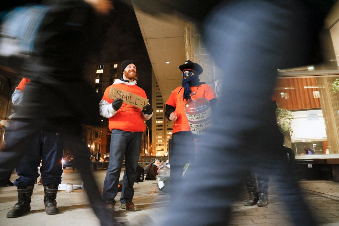 5 Days for the Homeless takes place outside the Hall Building. Photo by Marie-Pierre Savard.