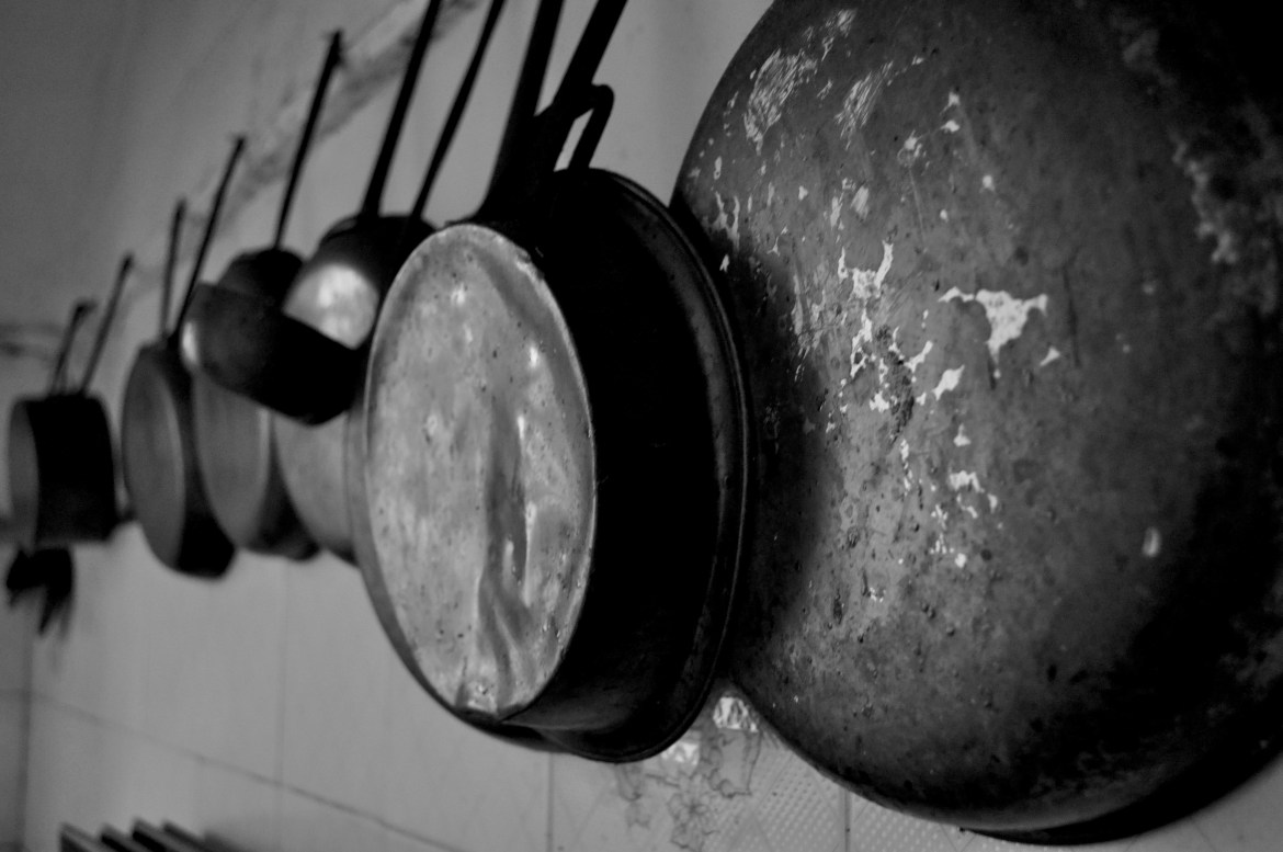Though he uses a plethora of unconventional pedals and gear, Aiden Smith's instrument of choice remains his aged pots and pans. Photo by davsot from Flickr.