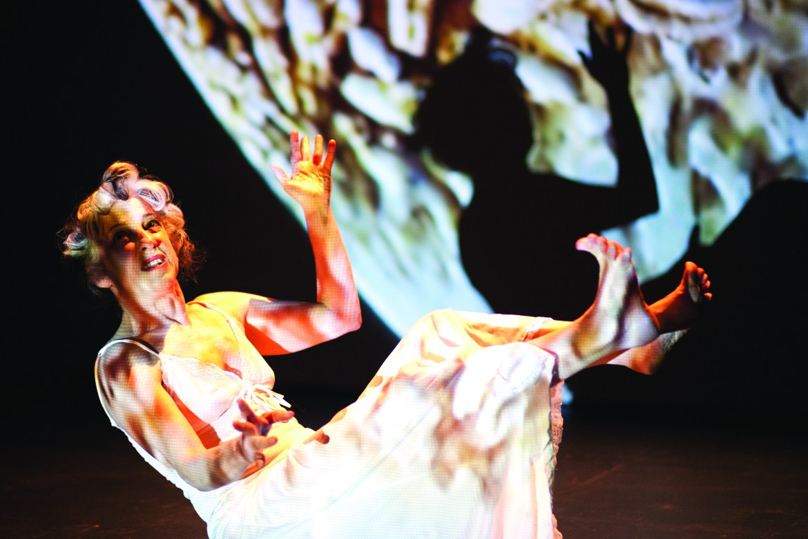 Dulcinea Langfelder explores the world of dreams onstage. Photo by Marie-Pierre Savard.
